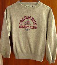 COLUMBUS BLUE JACKETS hockey kids sweatshirt CCM youth med sz 5-6 logo crewneck
