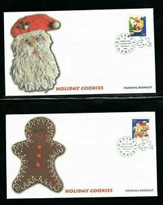 2005 Sc #3957-60 - 37c Holiday Cookies Vending Booklet Fleetwood cachet 4 FDC