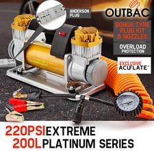 Platinum 12v Air Compressor 200L/min Portable 4x4 Car Tyre Filler 4wd Deflator