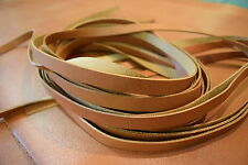 130cm long SPLIT LEATHER STRAPS 1.2-1.6mm thick Various widths available TAN col