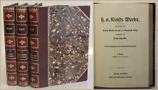 Schmidt H. v. Kleists Werke 1890 3 von 5 Bde Belletristik Klassiker Lyrik xy
