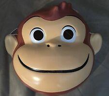 Curious George Monkey PVC Child Kids Costume Mask Rubies Licensed New