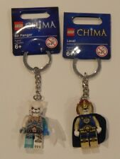 NEW ~ LEGO LEGENDS OF CHIMA ~ LAVAL + SIR FANGAR Key Chain BNWT ~ FREE POST