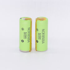 2PCS Panasonic18500 Battery 2000mah Rechargeable Li-ion 3.6V NCR18500A with Tabs
