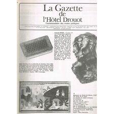 La GAZETTE de l'Hôtel DROUOT 1983 N°25 TABATIERE OR Trophées de Chasse PAQUEBOTS