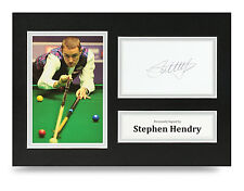 Stephen Hendry Signed A4 Photo Genuine Snooker Autograph Display Memorabilia COA