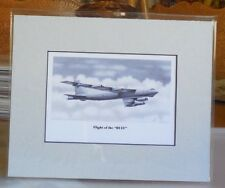 """B-52H Stratofortress """"Flight of the BUFF"""" 8X10 Matted Print by Willie Jones"""