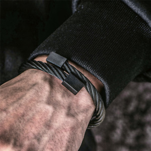 Luxury 316L Stainless Steel Bangle Men Bracelet Titanium Adjustable Cuff Jewelry