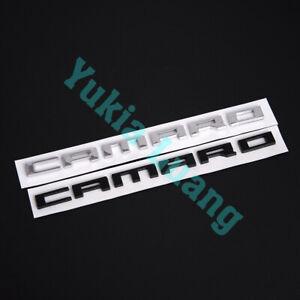 CAMARO Letter Car Body Rear Trunk Lid Emblem for Chevrolet Camaro SS ZL1 Z/28