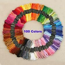 100 Colors Cotton Cross Floss Stitch Thread Embroidery Sewing Skeins Hand Set