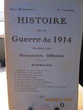 Histoire de la Guerre de 1914 d'après les Documents Officiels 9