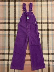 1970's Vintage Ely Purple Corduroy Bib Overalls Size Small!!! 4950