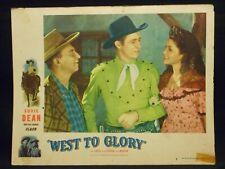 Eddie Dean West To Glory 1947 Lobby Card #3 good Western Musical