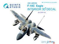 Quinta QD48039 1/48 F-15C 3D-Printed & coloured interior for GWH kit