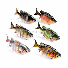 6pcs Catfish Swimbait Fishing Lures 8cm/14g ROM Muti-Jointed Baits Bass Tackle