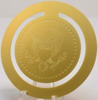 2020 President Donald Trump White House Gift Gold Book Mark POTUS Seal SIGNED
