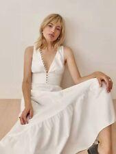 AUTH Reformation JOVI V-neck Midi Dress White
