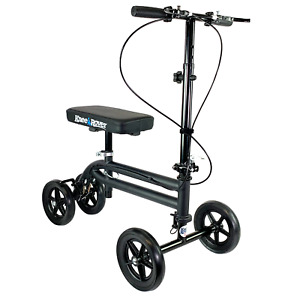Economy Knee Scooter Walker Aid Steerable Medical Leg Scooter KneeRover®, Black