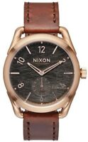 Nixon C39 Leather A4591890 Grey Dial Brown Leather Band Men's Watch