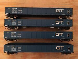 HO Atlas Lot of 4 Grand Trunk Western 52' Evans Gondola Metal Wheels GTW IC CN