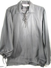 LATE RENAISSANCE SHIRT MUSEUM REPLICAS MEDIEVAL HALLOWEEN COSTUME LARGE  BLACK