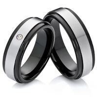 Eheringe  Verlobunsringe Partnerringe aus Tungsten mit Ringe Lasergravur W713