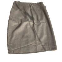 Ann Taylor Womens Pencil Skirt Brown Knee Length Stretch Career Petites 8P New