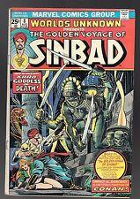 Worlds Unknown #8 (Aug 1974, Marvel) Sinbad