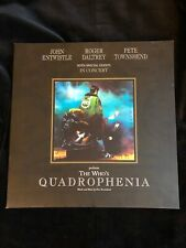 The Who's Quadrophenia 1996 Tour Concert Program - printed in England