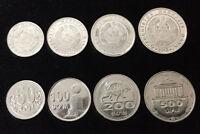 UZBEKISTAN SET 4 COINS 50 100 200 500 SOM 2018 COIN UNC