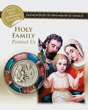 HOLY FAMILY MARY JOSEPH JESUS MAGNETIC OR SELF ADHESIVE PROTECT ME CAR PLAQUE