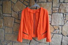 Orange Textured Blazer with Gold Studs by GEORGE in Size 14 / 16