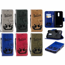 Hello Panda Wallet PU Leather Flip Case Cover Stand For iPhone Samsung Phones