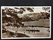 RP Vintage Postcard - Surrey #A7 - River Wey, Nr Guildford - 1957 Children Boats