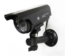 Mannequin Caméra De Sécurité-Energie Solaire Caméra de surveillance factice-Noir