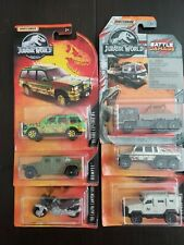 LOT of 6 MATCHBOX Jurassic World vehicles