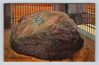 Plymouth MA, Plymouth Rock, Massachusetts Linen c1954 Postcard