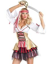 New Women Adult Sexy Pirate Wench Halloween Costume Dress Outfit Cosplay Party