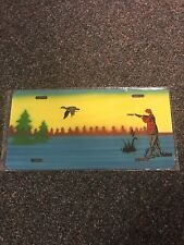 Duck Hunter Airbrush Metal License Plate