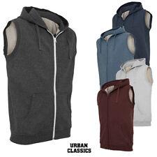 URBAN CLASSICS Hombre Mezcla Sin Mangas Zip Hoody chaleco chaqueta de punto