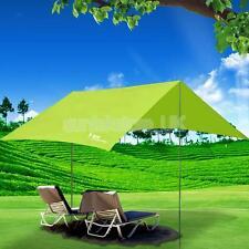 Camping Tent Rain Tarp Trail Sun Shade Awning Shelter Tent Pole & Sack Green