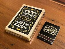 New ListingVintage Black Golden Nugget Las Vegas Casino Deck of Playing Cards + Matchbook