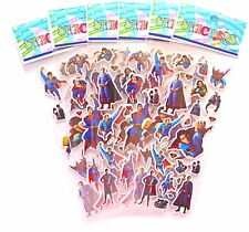 Superman Sticker Sheets x 6 Superhero Birthday Party Lolly Bag Treat Box Filler