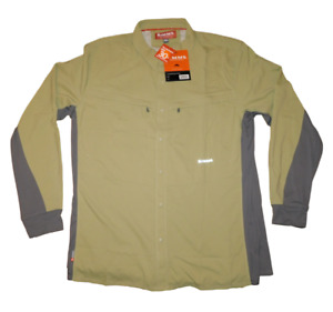 NEW NWT Men's SIMMS Intruder BiComp Button Up Fishing Shirt 2XL