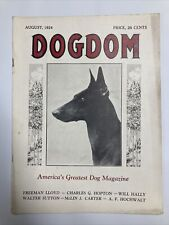 1924 Dogdom Magazine Manchester Terrier Cover
