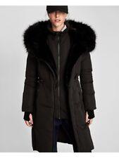 Zara Negro Puffer Abrigo de plumón repelente al agua anorak Chaqueta Acolchada Talla M, Uk10
