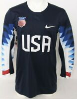 NEW Team United States USA Patch Navy Blue Nike Ice Hockey Jersey Men's M