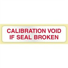 "Calibration Void If Seal Broken"", .5 x 2 in. Rectangle LBL-CAL2-WV-250"