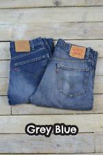 Jeans da uomo tagliamo classici , dritti grigi marca Levi ' s