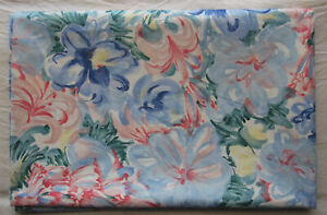 """Waverly Fabric*GARDEN FANTASY*4.5 yards x 55"""" *watercolor flowers floral design"""
